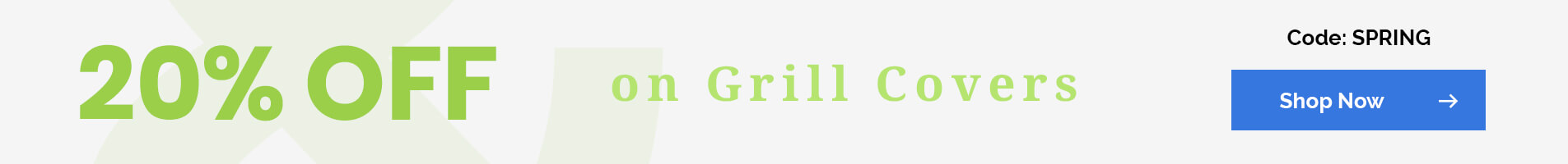 20% off on Grill Covers