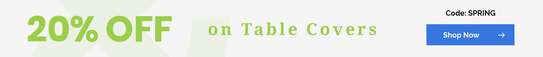 20% Off on Table Covers